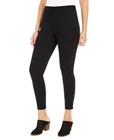 Style & Co Petite Side-Studded Leggings, Created For Macy's