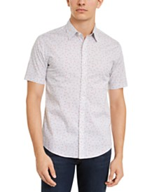 Michael Kors Men's Slim-Fit Stretch Ethan Multi-Dot Shirt