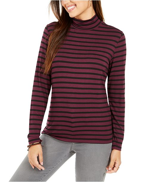 Style & Co Petite Striped Top, Created for Macy's
