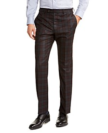 Men's Classic-Fit Stretch Check Flannel Dress Pants