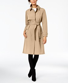 MICHAEL Michael Kors Single Breasted Hooded Trench Coat