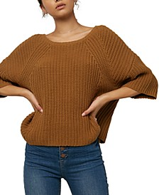Juniors' Sanchez Ribbed Sweater