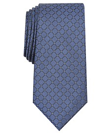 Men's Slim Grid Tie, Created for Macy's
