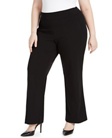 I.N.C. Plus Size High-Waist Trousers, Created for Macy's