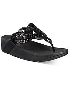 Elora Crystal Toe-Thong Sandals
