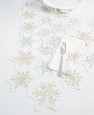 Winter Dream Cutwork Embroidery Runner