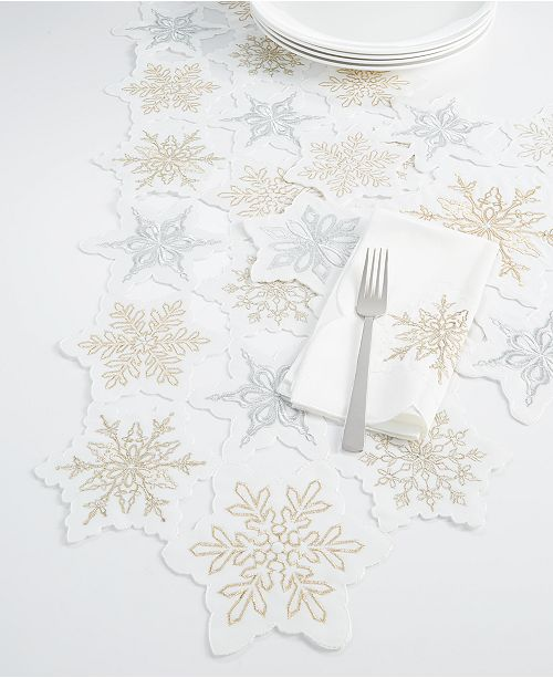 Elrene CLOSEOUT! Winter Dream Cutwork Table Linen Collection