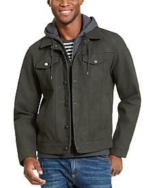 American Rag Men's Hooded Trucker Jacket, Created For Macy's