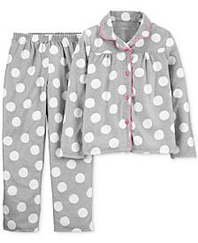 Carter's Little & Big Girls 2-Pc. Dot-Print Fleece Pajama Set