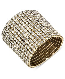 Gold-Tone Rhinestone Wide Stretch Bracelet, Created For Macy's