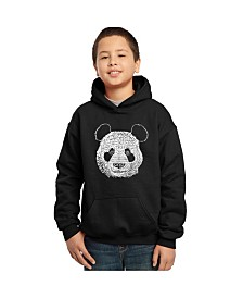 LA Pop Art Boy's Word Art Hoodies - Panda