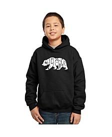 Boy's Word Art Hoodies - California Bear