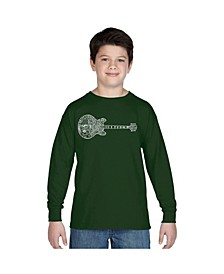 Boy's Word Art Long Sleeve - Blues Legends