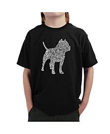 Boy's Word Art T-Shirt - Pitbull