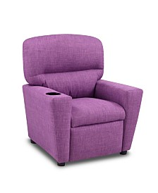 Kangaroo Trading Co. Kid's Recliner with Cupholder - Milford Dahlia