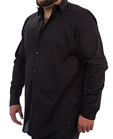 MVP Collections Men's Big & Tall Spike Collar Button-Up Shirt