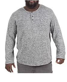 MVP Collections Men's Big & Tall Ultra Soft Henley