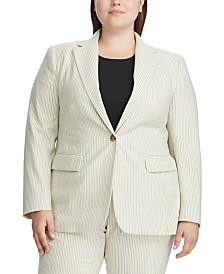 Lauren Ralph Lauren Plus Size Pinstripe Blazer