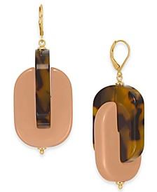Gold-Tone Nestled Drop Earrings