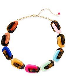 "Kate Spade New York Gold-Tone Tortoise-Look Nestled Collar Necklace, 19"" + 3"" extender"