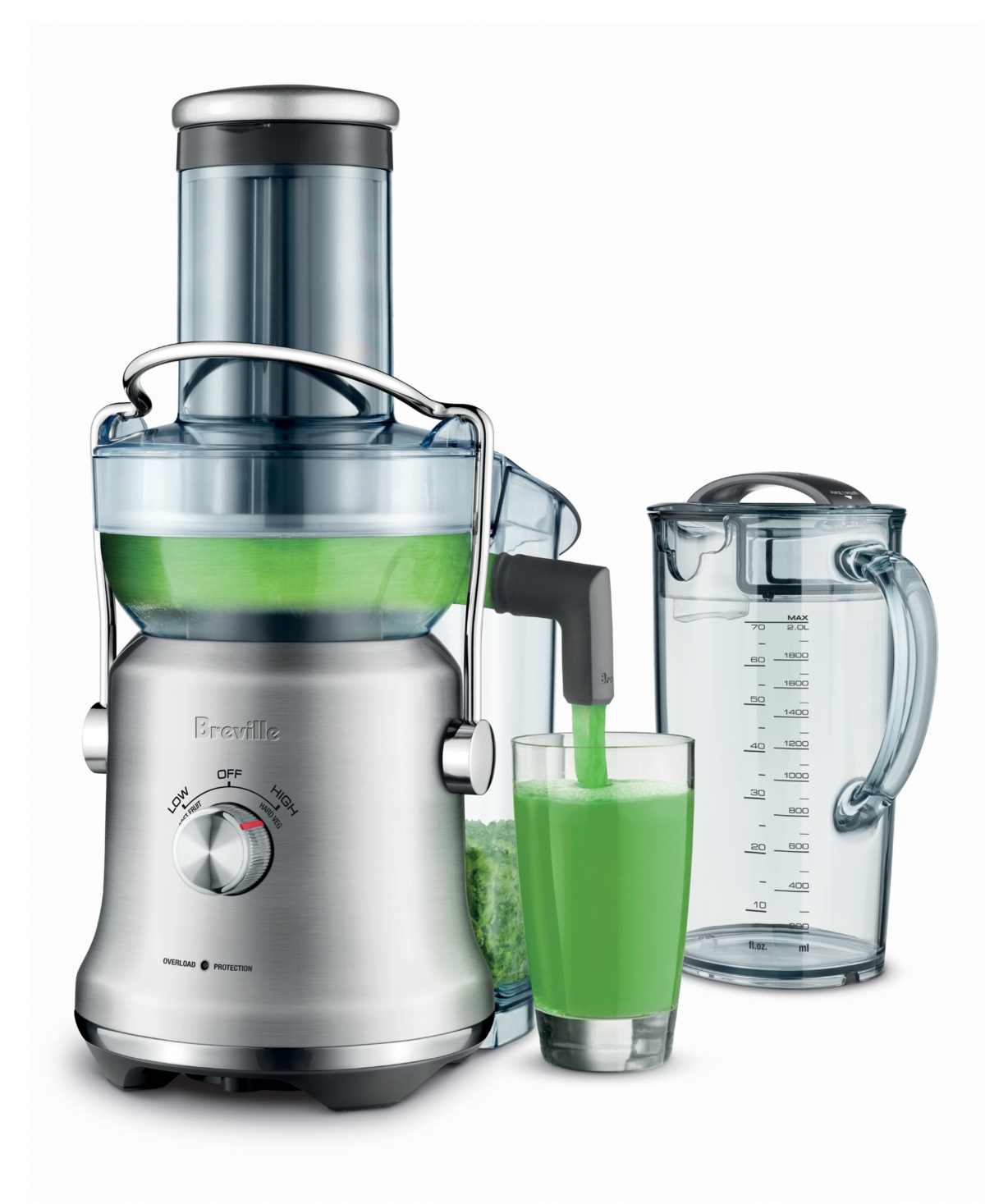 Breville BJE530BSS Juice Fountain Cold Plus Centrifugal Juicer, Brushed Stainless Steel