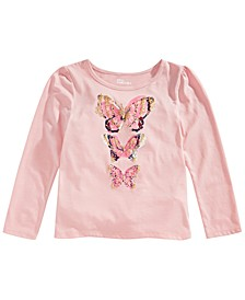 Toddler Girls Metallic Butterfly T-Shirt, Created for Macy's