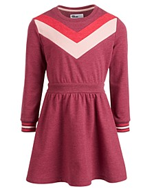 Little Girls Chevron Sweatshirt Dress, Created for Macy's