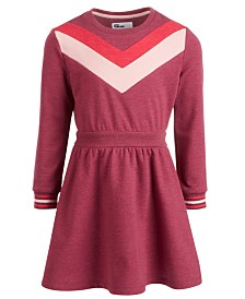 Epic Threads Little Girls Chevron Sweatshirt Dress, Created for Macy's