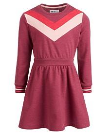 Epic Threads Toddler Girls Chevron Sweatshirt Dress, Created for Macy's