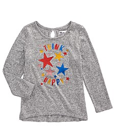 Little Girls Think Happy Star T-Shirt, Created for Macy's
