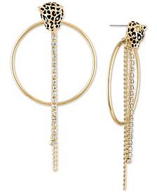 Crystal Leopard Doorknocker Drop Earrings