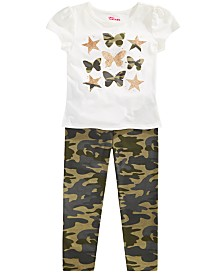 Epic Threads Little Girls Butterflies T-Shirt & Camo-Print Leggings, Created for Macy's