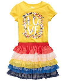 Toddler Girls Love T-Shirt & Tiered Skirt, Created for Macy's