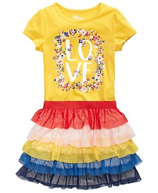 Epic Threads Toddler Girls Love T-Shirt & Tiered Skirt, Created for Macy's