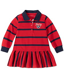 Toddler Girls Striped Collared Dress