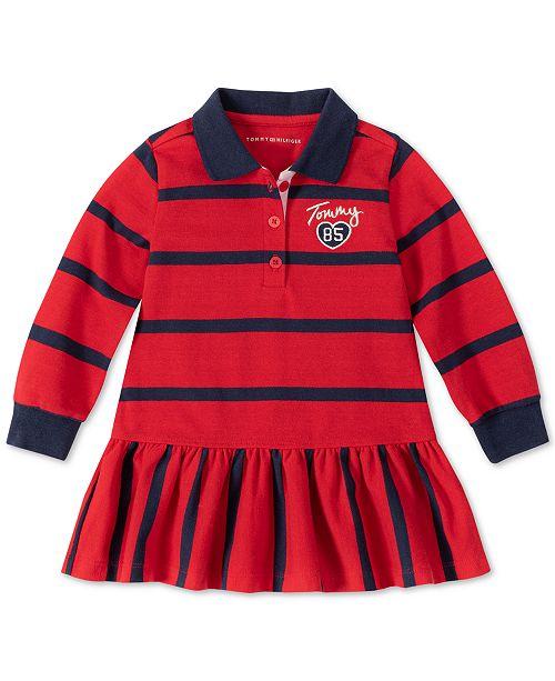 Tommy Hilfiger Little Girls Striped Collared Dress