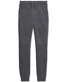 Big Boys Fleece Moto Joggers, Created For Macy's
