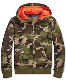 Big Boys Camo Fleece Hooded Sweatshirt
