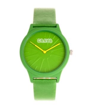 Unisex Splat Green Leatherette Strap Watch 38mm