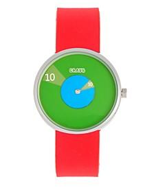 Unisex Pinwheel Pink Silicone Strap Watch 38mm