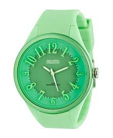 Crayo Unisex Burst Mint, Silicone Strap Watch 40mm
