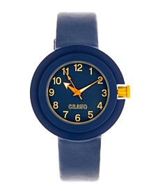 Unisex Equinox Navy Leatherette Strap Watch 40mm