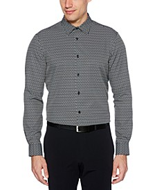 Men's Patterned Stretch Shirt