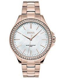 Women's Victoria Rose Gold Ion-Plated Stainless Steel Bracelet Watch 36mm