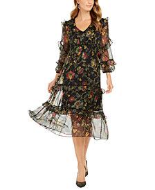 Taylor Floral-Print Chiffon Midi Dress
