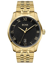 Men's Master Gold Ion-Plated Stainless Steel Bracelet Watch 41mm