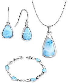 Marahlago Larimar Cheyenne Jewelry Collection in Sterling Silver