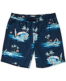 Big Boys Sundays Layback Printed Swim Trunks