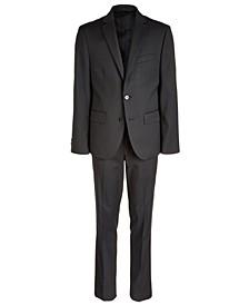 Big Boys Classic-Fit Stretch Black Stripe Suit Separates