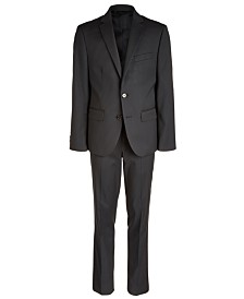 Lauren Ralph Lauren Big Boys Classic-Fit Stretch Black Stripe Suit Separates